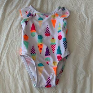Cat & Jack Ice-cream Cone 9 Months Bikini